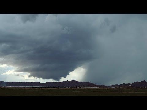 Maricopa, AZ Wall Cloud Timelapse and Flash Flooding – 9/26/2019