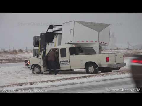 Winter Storm shuts down Interstate 70 at Kansas – Colorado Boarder