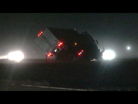 Extreme Winds Tip Over Semi Truck On Interstate 25,  Colorado Springs, CO 11/30/2019