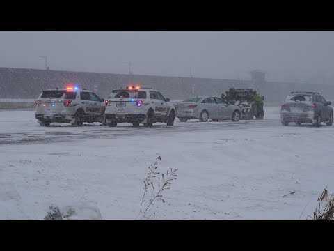 Winter Storm, Crashes and White Out Conditions in St Cloud, MN 1/17/2020