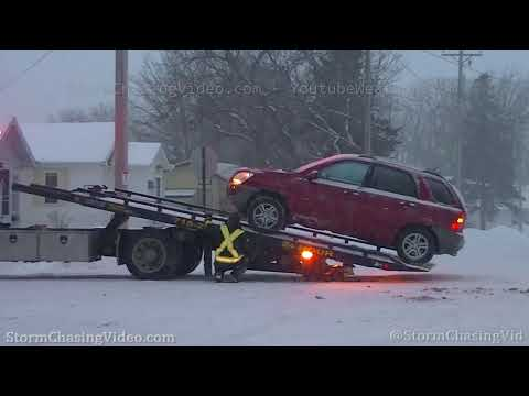 Rice Lake, WI Accident and Winter storm B-Roll – 1/17/2020