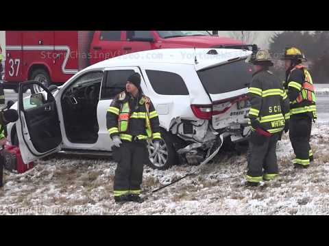 Kansas Highway Patrol Crash Scene and Wrecks on Icy Roads – 1/22/2020