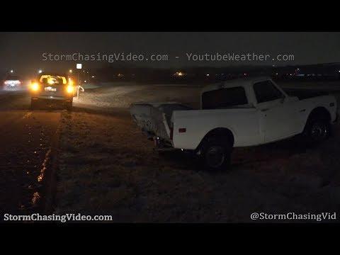 Snowy roads and crashes in Wichita, KS – 1/23/2020