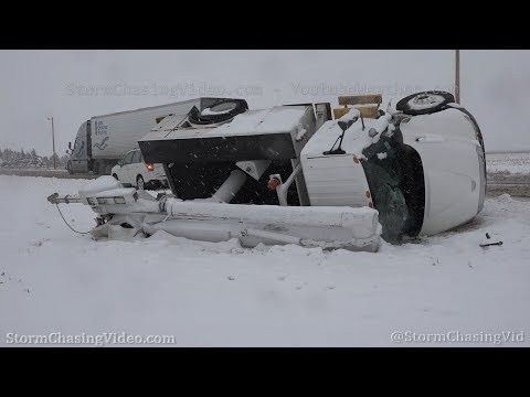 Heavy snow and roll over accident in  Southwest Kansas – 1/28/2020
