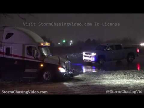 Wichita, KS Snowy Weather And Semi Truck Crash – 2/19/2020