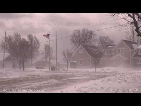 Ground Blizzard Hits Eastern Shore Of Lake Ontario – 2/28/2020