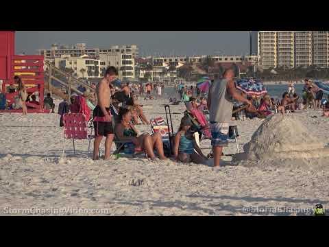 Spring Break Party Continues Amid CV19 – Siesta Beach, FL – 3/19/2020