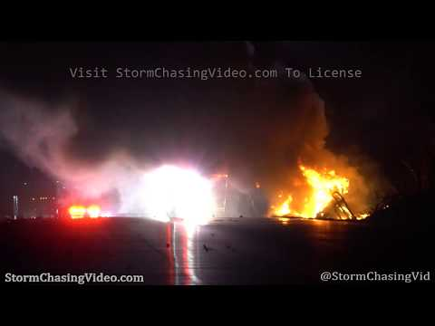 Semi Truck Crash And On Fire, Interstate 80, Monroe County, PA 3/21/2020