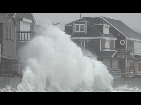 Massive Waves And Nor'easter, Scituate, MA – 4/3/2020