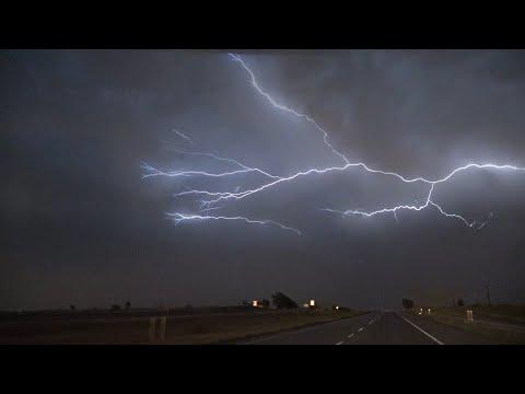 Insane Lightning over Clarendon, Texas – 5/23/2020