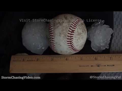 Minneola, KS Severe Thunderstorm Drops Baseball Hail – 5/24/2020
