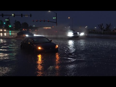 Colorado Springs, CO Flash Flooding Stalls Vehicles – 5/24/2020