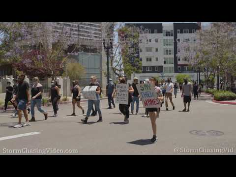 San Diego, CA Protesters Shutdown I-5 and Downtown Streets – 5/31/2020