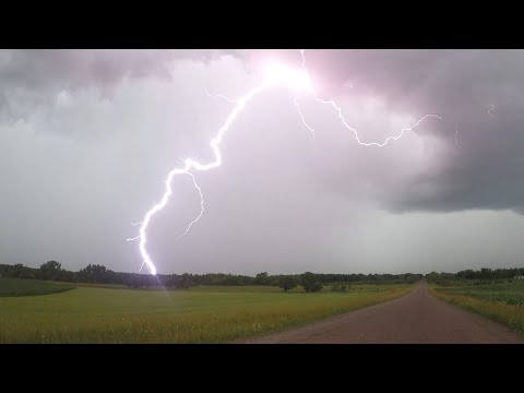 Intense Lightning And Flooding, Little Falls, MN 6/29/2020