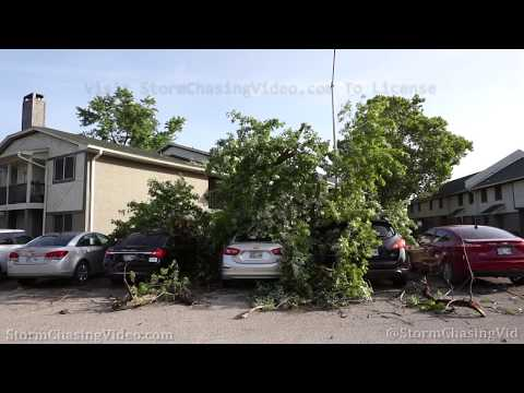 Norman, OK Severe Storm Power Flashes Daylight Damage B-Roll – 7/12/2020
