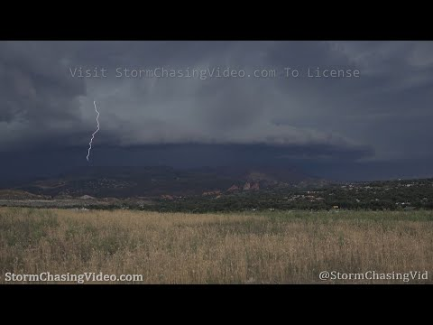 Insane Storm Structure and Lightning, Colorado Springs, CO – 7/21/2020