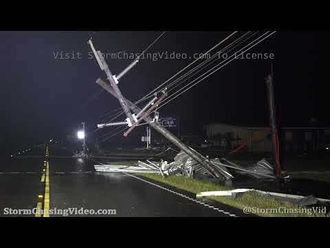 In The Eye Of Hurricane Laura, Storm Damage Carlyss LA – 8/27/2020