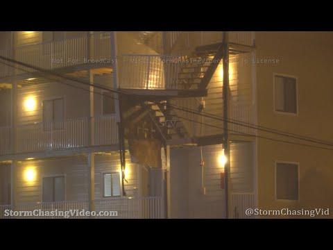 Hurricane Sally Eyewall Damages Buildings, Orange Beach, AL – 9/15/2020