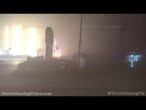 Hurricane Sally Inner Eye Wall Slams Orange Beach, AL – 9/16/2020