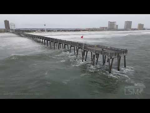 09-15-2020 Pensacola Beach, FL – Hurricane Sally Drone Flight