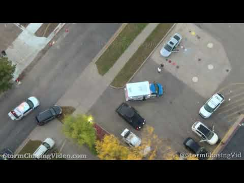 Drone Video and Police Audio Of Police Shooting Scene in Saint Cloud, MN – 9/29/2020