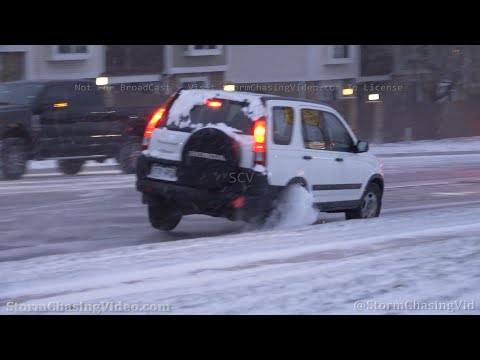Vehicle Loses Control on Extremely Icy Roads, Colorado Springs, CO – 10/25/2020