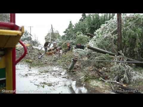 Wide Spread Ice Storm Damage, Oklahoma City, OK With Drone – 10/27/2020