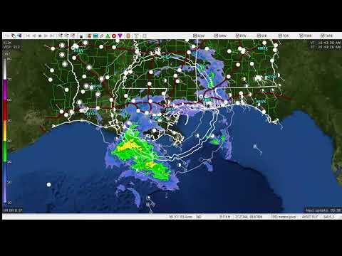 Hurricane Zeta Radar And New Orleans, LA EMS Radio Reed