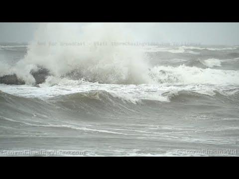 Hurricane Zeta Waves Ahead Of The Storm, Grand Isle, LA – 10/28/2020