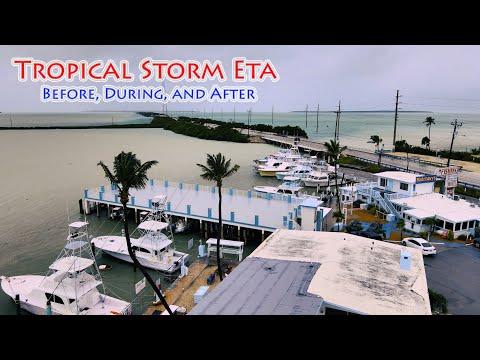 Tropical Storm ETA WHACKS Islamorada!  Crazy storm footage before, during, and after!