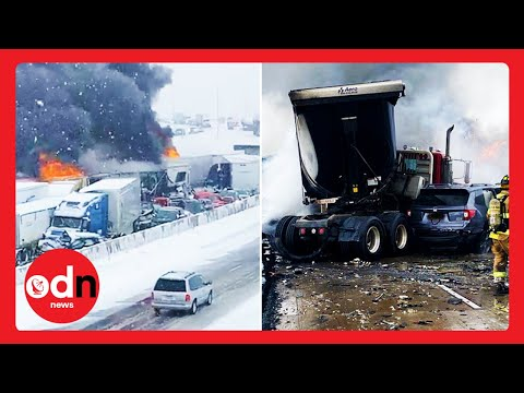 Dramatic Footage Shows Huge 29-Vehicle Crash on Minnesota Highway