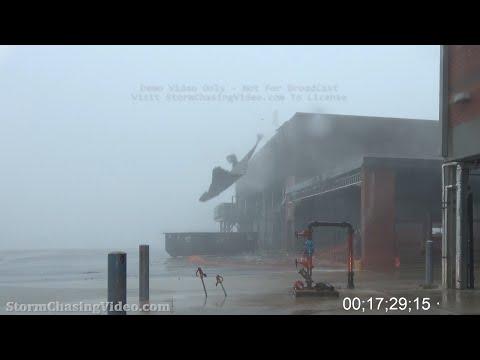 Hurricane Delta, Cameron Parish, LA, Creole, LA – HD Stock Footage – 10/9/2020