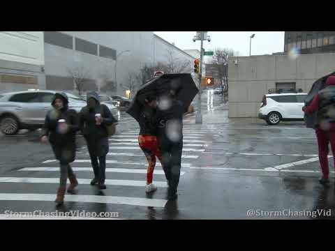 Nor'easter Slams Holiday Shoppers, Queens, NY – 11/30/2020