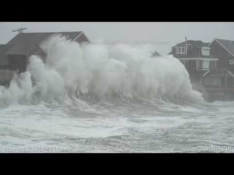 Massive Waves Slam Scituate, MA from the NorEaster  – 12/17/2020