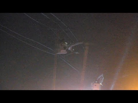Utility Crews Work In The Winter Storm To Restore Power – Rice Lake, WI – 12/23/2020