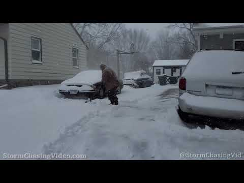 Creston, IA Winter Storm Impacts Neighborhood's. 1/25/2021