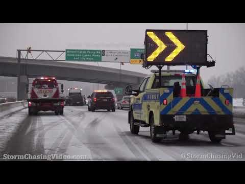 Snow Causes Slick Conditions and Crashes, Twin Cities, MN – 2/21/2021