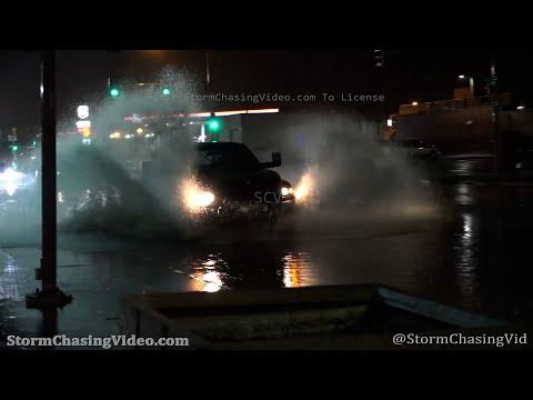Overnight Storm Creates Street Flooding, Great Bend, KS  – 4/6/2021