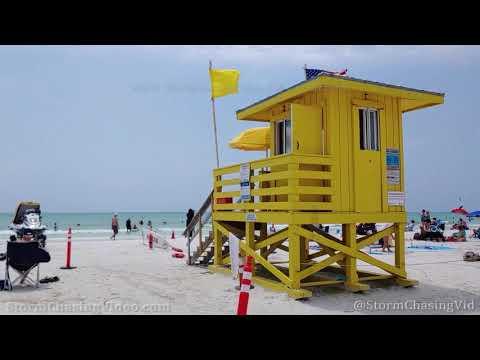Red Tide Warning, Siesta Beach, FL – 4/16/2021