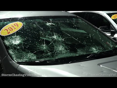 Extensive Hail Damage In Norman, OK 4/29/2021