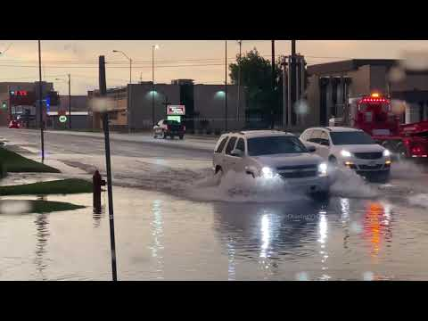 Heavy Rains Cause Flash Flooding, Chickasha, OK – 5/27/2021