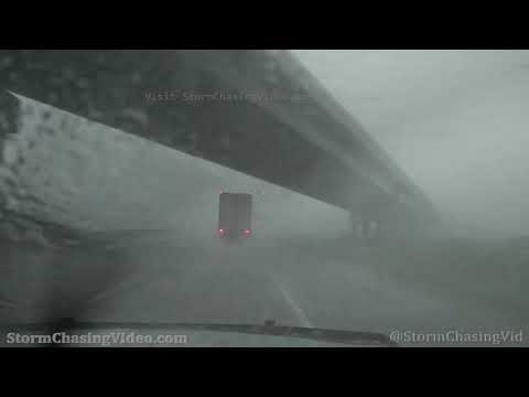 Driving in Whiteout Blinding Rain, Hail and High Winds on I70 Tonganoxie, KS – 5/27/2021