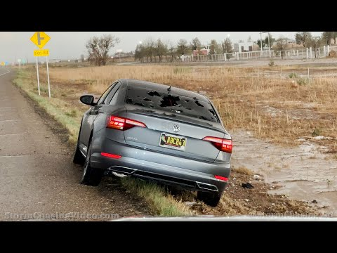 Roswell, NM Damaging Hail and Dust Storm 4K Footage – 5/28/2021