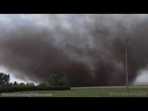 Large Tornado 200 meters away from chaser, High River, Alberta, Canada – 6/5/2021