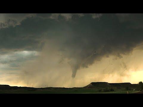 Multiple Cinematic Tornadoes near Sidney, MT and North Dakota Boarder – 6/10/2021