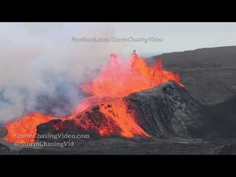 Iceland Volcano Erupting From A Helicopter – 6/6/2021