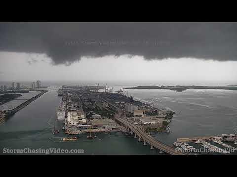 Miami, FL Stormy Tower Camera B-Roll – 6/15/2021