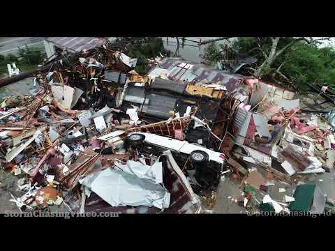 Brewton, AL Tornado Drone Aftermath – 6/19/2021