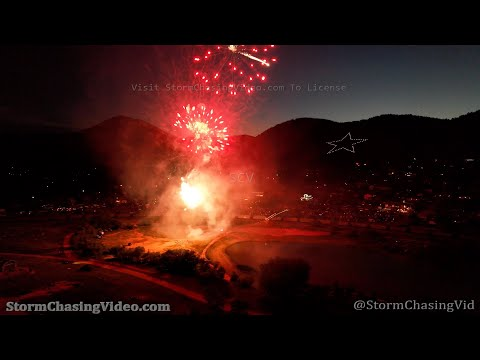 Fireworks from Drone, Palmer Lake, CO – 7/4/2021
