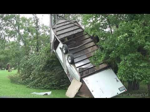 Large Multi Vortex Wedge Tornado and Damage – Lake City, Iowa – 7/14/2021